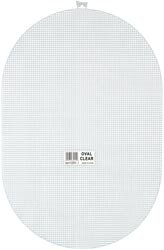 Bulk Buy: Darice Plastic Canvas 7 Count 12 X17 1/2 Oval Clear 33031 (6-Pack) Inc.