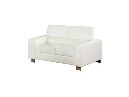 Furniture of America Bloomsbury Bonded Leather Match Love Seat, (Bloomsbury Leather)