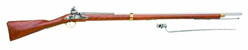 Denix 18th Century British Brown Bess Flintlock Musket American Revolutionary War Era Rifle - Non-Firing Replica