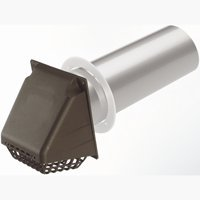 Deflect-o Corporation Dryer Vent Hood Assembly Brown