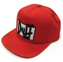 The Simpsons Duff Beer Duffman Adjustable Hat (Duff Beer Hat)