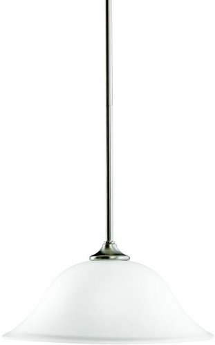 Kichler 3587NI Wedgeport Pendant 1-Light, Brushed Nickel -