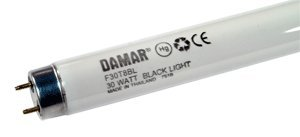 Fluorescent Light Tubes F30T8BL Black Light UVA (Case of 15) by Damar