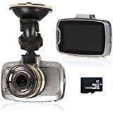 "Dash Cam, RAGU 2.7"" 170°1920*1080 Full HD Car DVR HD Video Car BlackBox Camera with G-sensor, WDR, Night vision, 6-Glass Lens, Motion Detection with 16GB TF Card"