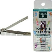 Earth Therapeutics Nail Clipper - Earth Therapeutics Foot Therapy Toenail Clipper, with Clipping Catcher, 1 clipper (Pack of 3)