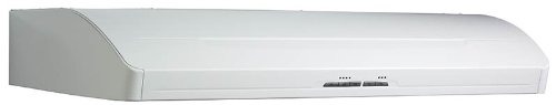 White Elite Under Cabinet Hood - Broan E66130WH Elite Ultra Quiet Range Hood, 30-Inch, White