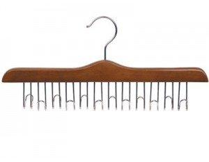 Only Hangers Walnut & Chrome Wooden Belt Hanger ()