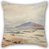 Slimmingpiggy 16 X 16 Inches / 40 By 40 Cm Oil Painting Nicholas Chevalier - Kapiti Pillow Cases,2 Sides Is Fit For Saloon,kids Boys,lounge,floor,lover,christmas
