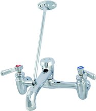 Chicago Faucets GIDDS-231318 897-RCF Wall Mount Adjustable Center Service Sink Faucet, Rough Chrome, 42.00 x 13.50 x 8.75 inches,
