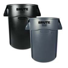 - Rubbermaid Commercial 264360GY Brute Vented Trash Receptacle Round 44 gal Gray