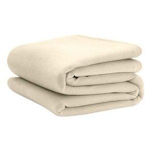 Vellux Original Blanket Ivory Queen (Case of 4) - Martex Vellux Twin Blanket
