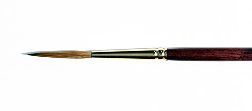 Silver Brush Pure Kolinsky Sable Long Handle Liner Brush, Size-8 (Liner Long Kolinsky)