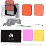 Juego de filtros para lentes CamKix para GoPro HERO 4 Black, Silver HERO+ HERO+ LCD, HERO and 3+ - Mejora los colores para...