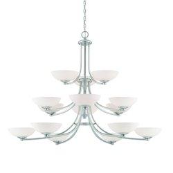 Dolan Designs 2903-09 15 Light Chandelier, Pwt, Nckl, B/S, Slvr.