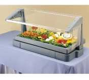 Cambro BBR720110 Black 5 Pan Tabletop Salad Bar