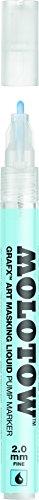 Molotow GRAFX Masking Fluid Pump Marker, 2mm, 1 Each (728.001) (Fluid Masking)