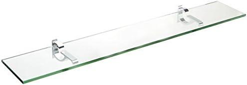 Spancraft Glass Monarch Glass Shelf, Chrome, 6 x 24