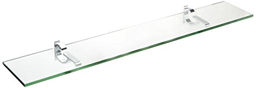(Spancraft Glass Monarch Glass Shelf, Chrome, 8 x)
