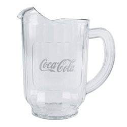 New (1) Coke Coca Cola Restaurant Clear Plastic 60 oz. Serving Pitcher Carlisle