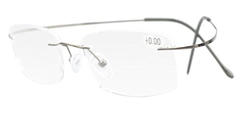 - Eyekepper Titanium Rimless Eyeglasses Women Men Gunmetal