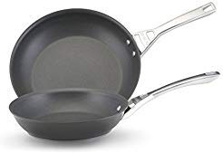 Skillets Circulon Infinite (Circulon Infinite Hard Anodized Nonstick 10-inch/ 12-inch Open Black Skillets (Set of 2))