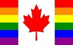 Canada Gay & Lesbian Rainbow Pride Combo Large 3 X 5 Feet Flag Banner .. Canadian Great Quality ... New by SUPERDAVES SUPERSTORE