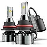Marsauto 9004 LED Headlight Bulbs, 12000LM M2 Series Led Hi/Lo Beam Conversion Kit with Fan, Csp Chip Canbus Ready Ip67 6000K Xenon White