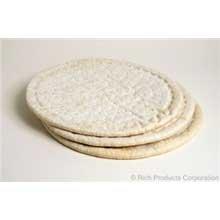 Rich Products Raised Edge Par Baked Pizza Crust, 22.5 Ounce - 10 per case.