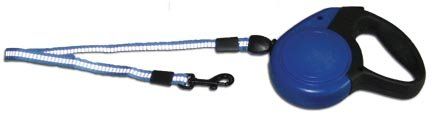 bluee Large bluee Large Leather Bredhers Reflective Retractable Dog Leash, Large, bluee