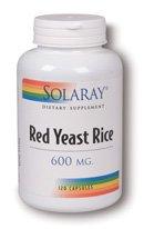 Solaray - levure de riz rouge, 600 mg, 120 capsules