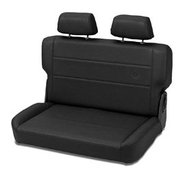 Bestop 39440-01 TrailMax II Fold and Tumble Black Crush All-Vinyl Rear Bench Seat for 1955-1995 CJ5, CJ7 and Wrangler (Jeep Cj5 Cj7 Wrangler)