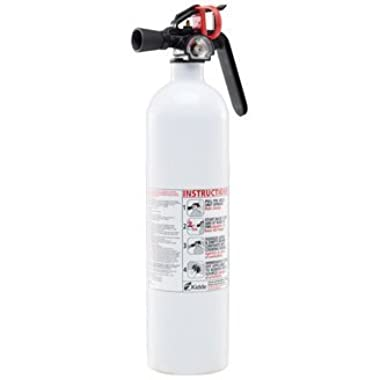Kidde RESSP Fire Extinguisher 711A Rated, 2.5-Lb. White Kitchen - with Wall Hook, Disposable