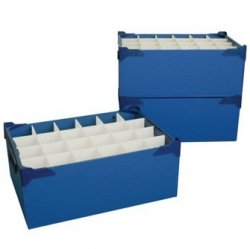 Gläser Aufbewahrungsboxen glas aufbewahrungsbox für 24 gläser nonic wellington slim jim