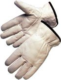 Premium Goatskin Leather Work Gloves (Sold by Dozen) Size Large