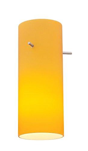 - Cylinder - Pendant Glass Shade - Amber Glass Finish