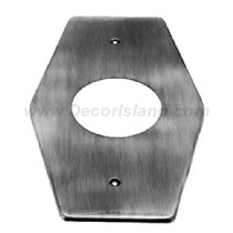 Westbrass D503-12V 1 Hole Remodel Plate For Moen or Delta, Victorian Bronze