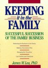 img - for Keeping It in the Family: Successful Succession of the Family Business book / textbook / text book