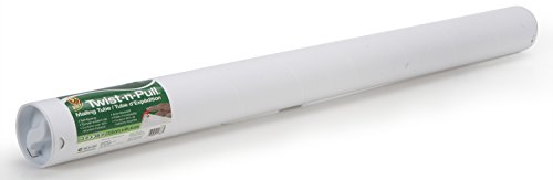 (Duck Brand Twist-n-Pull Tamper-Evident Mailing Tube, 3 x 36 Inches, White (1163253))