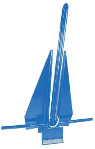 Seachoice 41724 PVC Coated Slip Ring Anchor - Protects Boat Surfaces from Damage - 8 Pounds - Blue