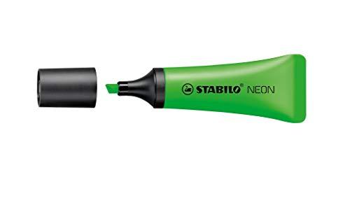 Marcador de Texto Fluorescente, Blister, Stabilo, Neon 72 48.2701, Verde Claro