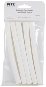 NTE Electronics 47-25306-W Heat Shrink Tubing, Dual Wall with Adhesive, 3:1 Shrink Ratio, 3/8