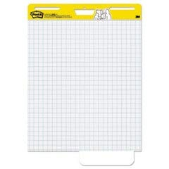 Post-it Super Sticky Easel Pad, 25 x 30 Inches, 30 Sheets/Pad, 2 Pads (560), Large White Grid Premium Self Stick Flip Chart Paper, Super Sticking Power ()
