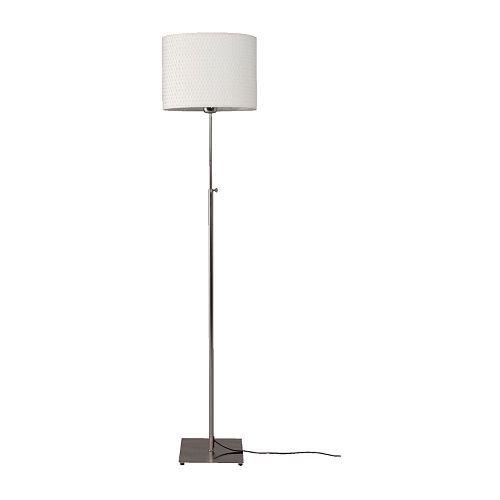 Ikea Alang Floor Lamp , Nickel Plated, White