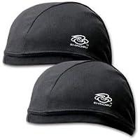 Ninja Sports Japan Coolmax® Quick Drying Cycling Skull Cap, Running Beanie, Helmet Liner Black (2-in-A-Set) SR-007