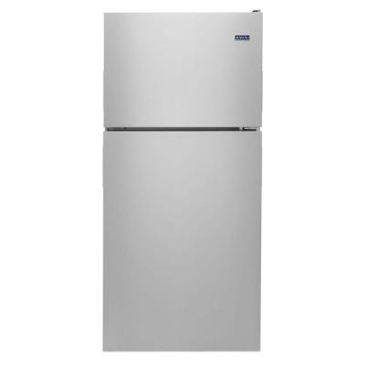 Maytag 18 cu. ft. Top Freezer Refrigerator in Monochromatic Stainless