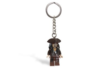 LEGO Pirates of the Caribbean Captain Jack Sparrow Key Chain 853187, Baby & Kids Zone