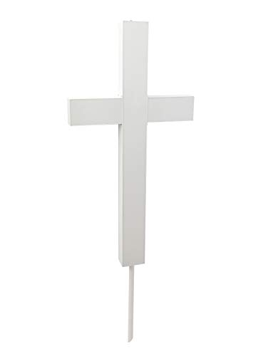 - FixtureDisplays Premium Metal & Acrylic Cross LED Lighted Cross, Christian Lighted Church Sign, Perfect for Indoors & Outdoors 18101-WHITE-NPF!