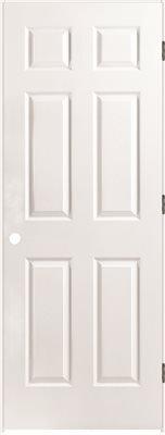 6-Panel Prehung Door, Primed White, Left Hand, 36X80 in. (Pre Hung Door)
