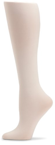 Girls' Signature Microfiber 3D Opaque Tights 2 Pair Pack, Ivory, 6-8 (Girls Ivory Tights)