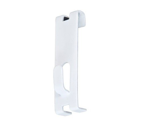 - Gridwall Utility Hook For Grid Panel Display - Picture Notch - Box of 100 Pieces - White